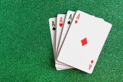 Pás reais do flash do casino dos cartões de jogo Fotos de Stock Royalty Free