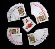 Pás reais do flash do casino dos cartões de jogo imagem de stock