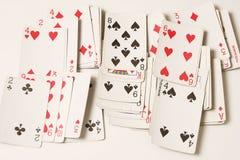 Pás reais do flash do casino dos cartões de jogo Fotografia de Stock