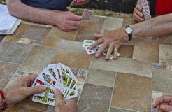 Pás reais do flash do casino dos cartões de jogo fotografia de stock royalty free