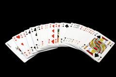 Pás reais do flash do casino dos cartões de jogo Cartões de jogo jogo Fotografia de Stock Royalty Free