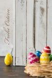 A Páscoa é tempo tão feliz! Fotos de Stock Royalty Free