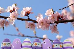 A Páscoa é um dos dois feriados os mais importantes na religião cristã Imagem de Stock Royalty Free