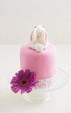 Páscoa Bunny Cake fotos de stock royalty free