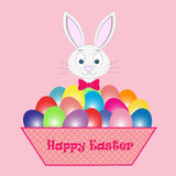 Páscoa Bunny Card Fotos de Stock