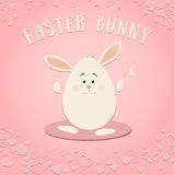 Páscoa Bunny On The Pink Background Foto de Stock Royalty Free