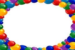 A Páscoa colore ovos armazenados em um quadro Fotos de Stock Royalty Free