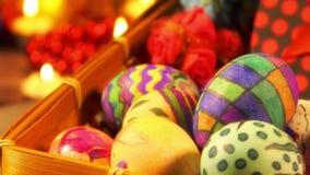 Páscoa colorida Paschal Eggs Celebration video estoque