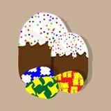 Páscoa com ovos da páscoa Fotografia de Stock Royalty Free