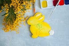Páscoa decorada Bunny Cookie Fotografia de Stock Royalty Free