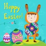 Páscoa feliz. ilustração stock