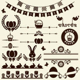 Páscoa feliz! Elementos do projeto do vetor Foto de Stock