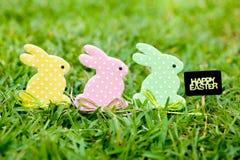 Páscoa feliz - três coelhinhos da Páscoa Imagem de Stock Royalty Free