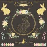 Páscoa floral do quadro ilustração royalty free