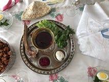 Páscoa judaica Seder Fotos de Stock Royalty Free