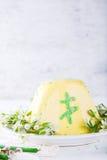 Páscoa ortodoxo Quark Dessert do russo tradicional fotografia de stock