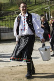 Páscoa que polvilha em Holloko, Nograd, Hungria fotos de stock royalty free