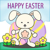 Páscoa Rabit Bunny Egg Hunt Illustration Foto de Stock Royalty Free