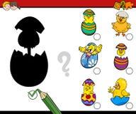 A Páscoa sombreia o jogo da atividade ilustração royalty free