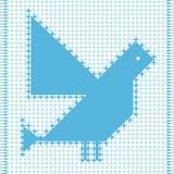 Pássaro étnico Ilustração do Vetor