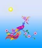 Pássaro abstrato brilhante Foto de Stock Royalty Free