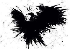 Pássaro abstrato do grunge Fotografia de Stock