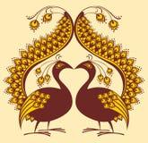Pássaro abstrato do vetor, pavão Fotografia de Stock