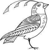 Pássaro abstrato mágico ilustração stock