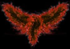 Pássaro abstrato no incêndio ilustração royalty free