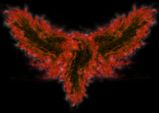 Pássaro abstrato no incêndio Fotos de Stock
