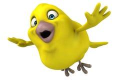Pássaro amarelo ilustração do vetor