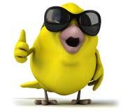 Pássaro amarelo ilustração royalty free