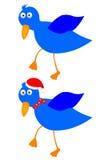 Pássaro azul Ilustração do Vetor