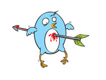 Pássaro azul de voo atacado Imagens de Stock Royalty Free
