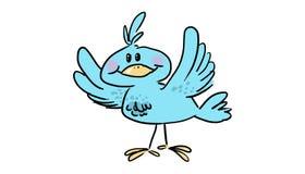 Pássaro azul feliz ilustração stock
