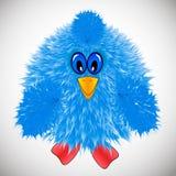 Pássaro azul, galinha pequena, ícone ilustração stock