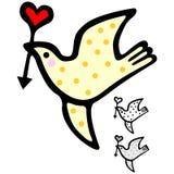 Pássaro bonito do Valentim Fotos de Stock Royalty Free