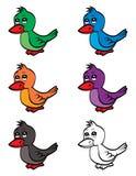 Pássaro bonito dos desenhos animados ilustração stock