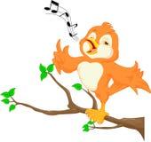 Pássaro bonito que canta Fotos de Stock Royalty Free