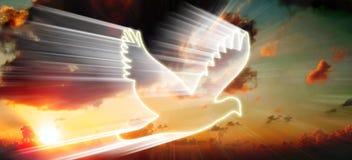 Pássaro branco ilustração do vetor