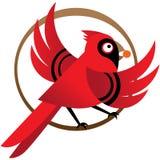 Pássaro cardinal vermelho ilustração do vetor