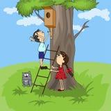 Pássaro-casa Imagem de Stock