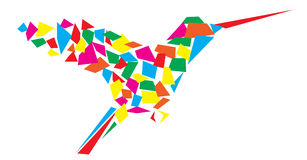 Pássaro colorido do zumbido Imagem de Stock Royalty Free