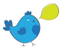 Pássaro com bolha Imagens de Stock