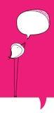 Pássaro com bolha do discurso Imagem de Stock
