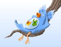 Pássaro com borboletas Imagens de Stock