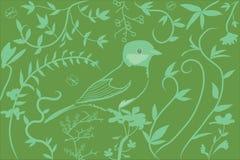 Pássaro com flores ilustração do vetor