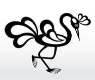 Pássaro criativo em um fundo claro ilustração do vetor