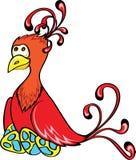 Pássaro da fantasia com ovos Fotos de Stock Royalty Free