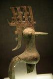 Pássaro de bronze pequeno Sanxingdui Sichuan China Imagem de Stock